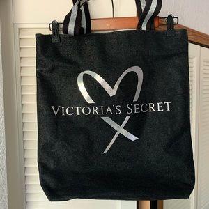 Victoria's Secret glitter tote bag